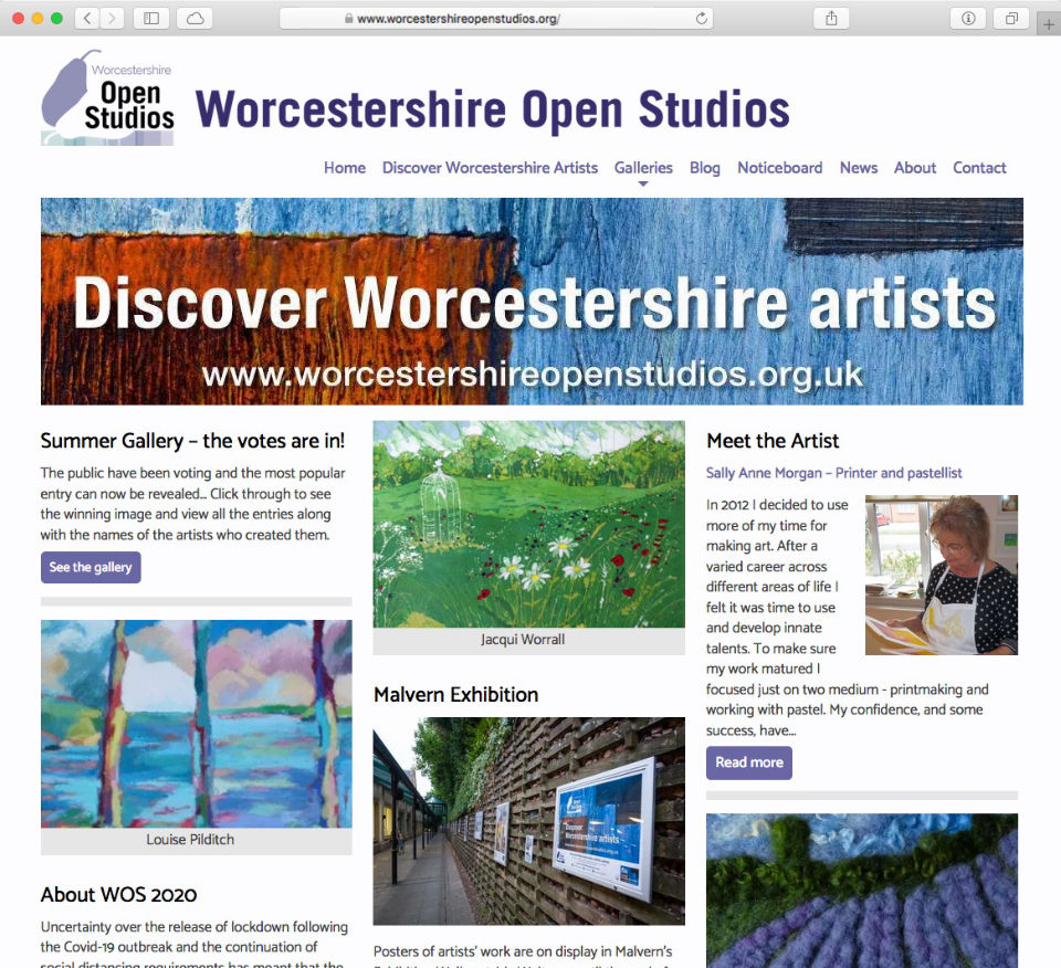 worcestershireopenstudios.org website by Richard Nicholls
